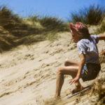 Serf su duna di sabbia Cornovaglia 1985